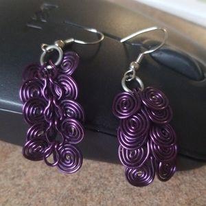 Grape purple Earings